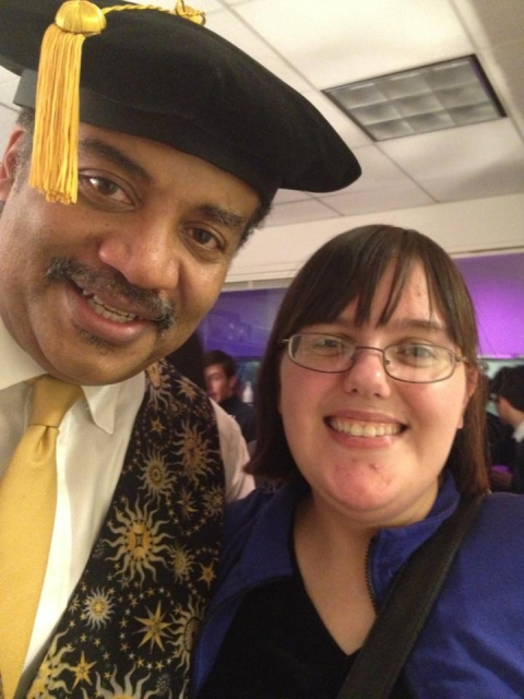 Neil deGrasse Tyson and me.